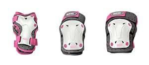 Roces Protections pour enfant Standard 3 Blanc weiss/rosa Jr