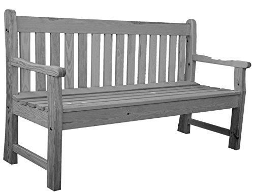 Gartenbank aus Holz 120 cm lang grau gewaschen Holzbank Sitzbank Bank Akazie FSC