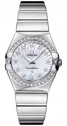 Omega 123.15.27.60.55.004 - Reloj para mujeres, correa de acero inoxidable