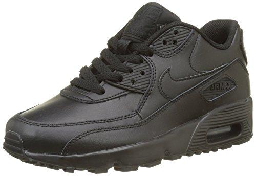 Nike Jungen Air Max 90 Ltr (Gs) Laufschuhe, Schwarz, 36 EU