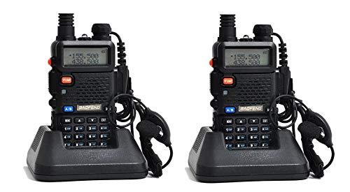 2 X Baofeng UV-5R Walkie Talkie Ricetrasmittente Two Way VHF/UHF Dual Band...