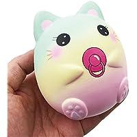 Squishys Grandes kawais,9.5*8*7cm Suave Juguetes de Gato Squishies Squeeze Toy Slow Rising Decompression Stress Relief Juguete Regalo para niños y Adultos,de Gusspower
