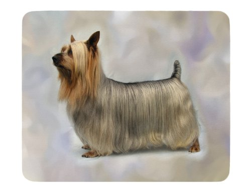 Australian Silky Terrier Weiches Gummi Neopren Mauspad -