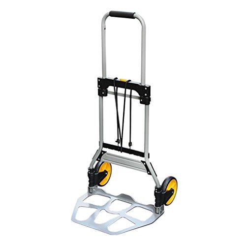 Hand-LKW/Gepäckwagen/teleskopischer faltender tragbarer zweirädriger Laufkatze/Aluminiumlegierungs-Rod Van/industrielle leise Laufkatze/Reise-Einkaufswagen/Last 75 Kilogramm