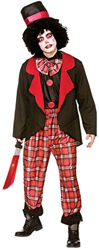 Deluxe Freaky Clown Men's Costume Scary Halloween Fancy (Kostüme Freaky Scary Halloween)