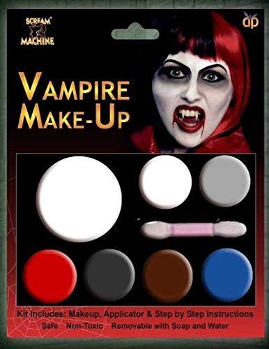 HALLOWEEN MAKE-UP MAKE-UP GESICHTSFARBE ZOMBIE VAMPIR HEXE CLOWN DEVIL FAMILIEN SET ROT WEIß SCHWARZ - Vampir Multi Palette Schminke (Halloween-make-up Zombie Clown)