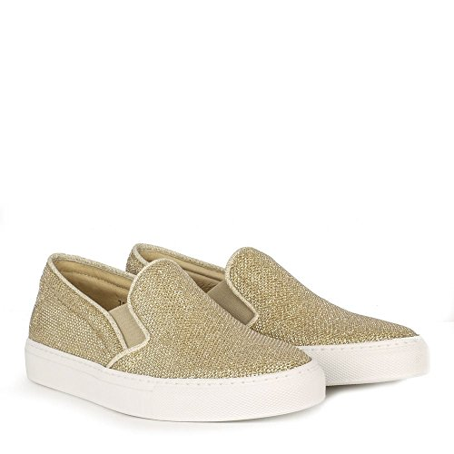 Elia B Chaussures Pukka Baskets Or Femme Or