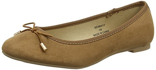 New Look Damen Kaglet Ballerina Braun (Tan)