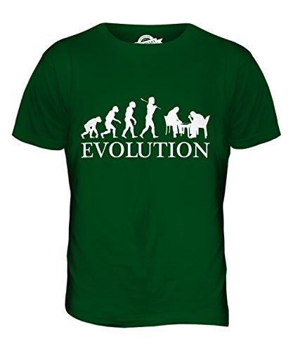CandyMix Backgammon Evolution Des Menschen Herren T Shirt Flaschengrün