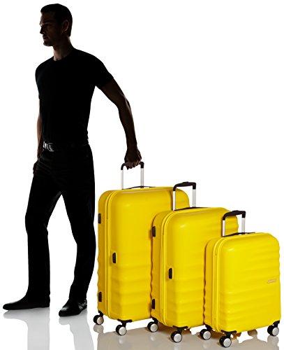 American Tourister WaveBreaker Juego de 3 Maletas, 96 Litros, Color Amarillo