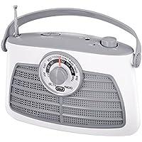 Trevi RA763V SUSI Retro AM/FM Portable Radio with Headphone Socket in White/Grey