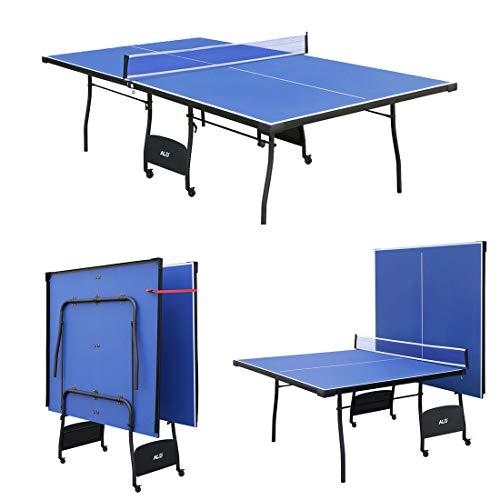 Jack\'s Household Mesa de PingPong Plegable y Ajustable, con Ruedas. Color Azul 274 * 152.5 * 76 cm Modelo!