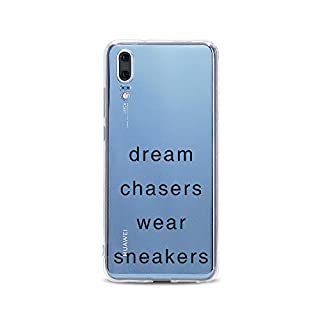 licaso Huawei P20 Handyhülle Smartphone Huawei Case aus TPU mit Dream Chasers Wear Sneakers Print Motiv Slim Design Transparent Cover Schutz Hülle Protector Soft Aufdruck Lustig Funny Druck