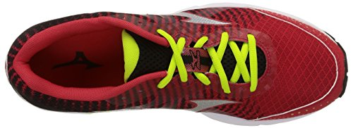 Mizuno - Wave Elevation - , homme, multicolore multicolore (Chinesered/Black/Limepunch)