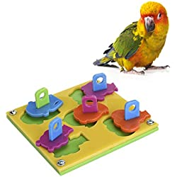 OFKPO Juguetes Educativos Interactivos para Mascotas Pájaro Aves Loros Cotorra ect