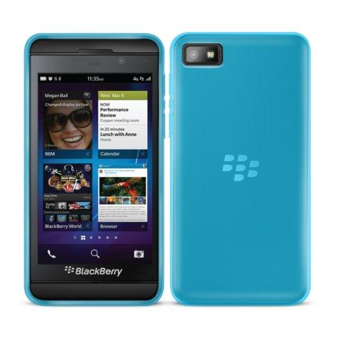 G-HUB® - BlackBerry Z10 Protective Fleixible Soft Gel Case - Silicon Phone Cover / HandyTasche / Schutzhülle / Gel Hülle Schütz in BLAU