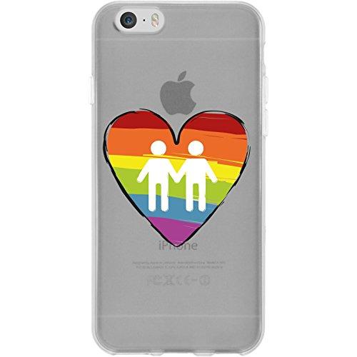 PhoneNatic Case für Apple iPhone 6 Plus / 6s Plus Silikon-Hülle pride Herz M5 Case iPhone 6 Plus / 6s Plus Tasche + 2 Schutzfolien Motiv:03