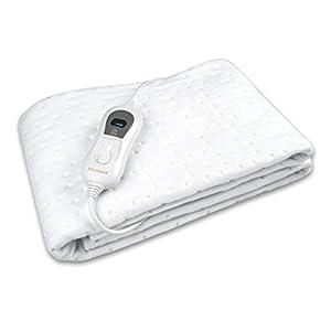 Medisana HU 665 Wärmeunterbett, Abschaltautomatik, Überhitzungsschutz, 3 Temperatursstufen, waschbar, Matratzenheizung für alle gängigen Matratzen geeignet,  150 x 80 cm