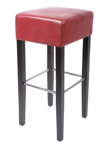 SixBros. Tabouret de bar bois de hêtre massif wengé rouge - BAR-02-WR/3