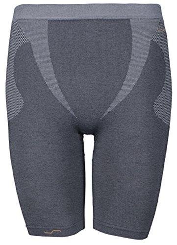Biker Shorts Sport Funktionshose Radler Shorts Funktionswäsche Orange_Line Legging SIMLOC (3XL-4XL, Weiß) (XL, Anthrazit) (Kleidung Ski Line)