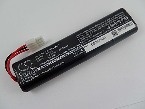 vhbw Li-MNO2 Akku 3000mAh (12V) für für Medizin Technik, Defibrillator Welch Allyn AED 10, AED 10 Jump Start wie 001852, 00185-2, 4032-001, u.a..