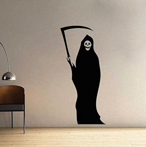 Sensenmann Halloween Wandtattoo Für Jugendliche Zimmer Selbstklebende Vinyl Wandaufkleber Schlafzimmer Kinderzimmer Dekoration Mural119 * 56 cm