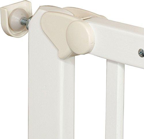 IB-Style – Treppengitter / Türgitter AUDIN weiss   71 – 108 cm & 79 – 126 cm   Klemmgitter Treppengitter Türgitter   2 Varianten wählbar   zum Verschrauben  öffnet wie ein Türchen   Verstellbar 71 – 108 cm - 3