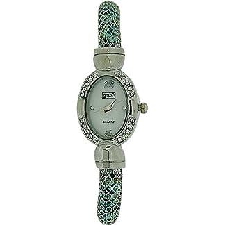 Eton 3073L – Reloj para mujeres, correa de metal color plateado