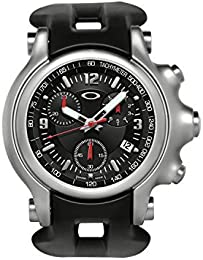Oakley Herren Holeshot Unobtainium Edelstahl Chronograph Tachymeter  Armbanduhr, Schwarz