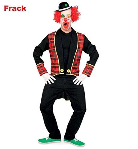 �nnerkostüm in schwarz mit rot-karierter Musterung und gelben Highlights Kragen langärmelig Frack Anzugjacke offen Clown lustig Narr Schausteller Artist Zirkus (Medium) (Maskerade-party-ideen Für Erwachsene)