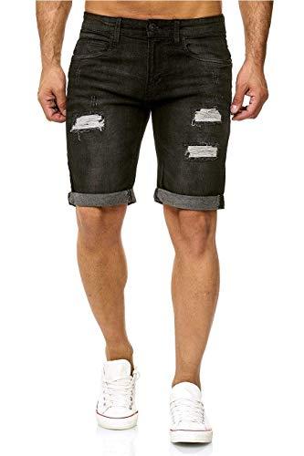 Denim Baumwolle Shorts (Indicode Kaden Denim Shorts, Farbe: Black, Größe: S)