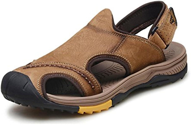 YaXuan Sandalias Deportivas de Verano para Hombre, Sandalias de Cuero con Punta Abierta, Zapatos de Trekking,