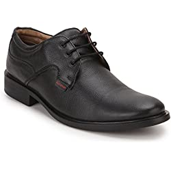 Red Chief Men's Black Leather Formal Shoes