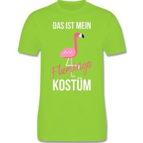 Shirtracer Karneval & Fasching - Das ist Mein Flamingo Kostüm - Herren T-Shirt Rundhals Hellgrün