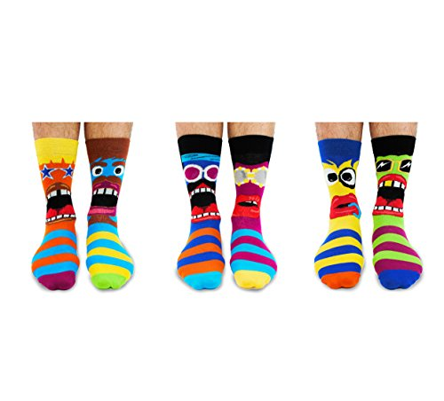 UNITED ODDSOCKS POLKA FACE SIX DOTTY ODD SOCKS FOR LADIES UK 4-8 GIFT IDEA
