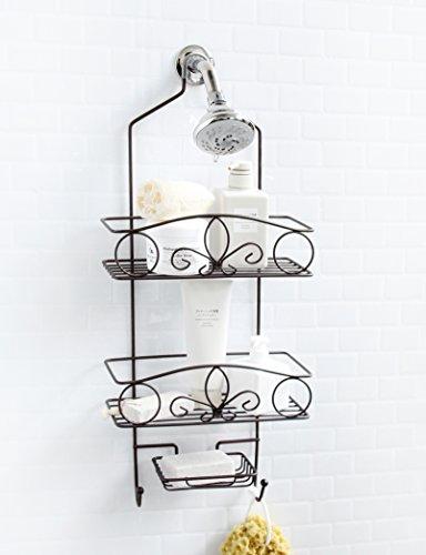 Inspired Living Dusch-Caddies Shower Caddy Fleur De Lis Bronze - Bronze Fleur De Lis