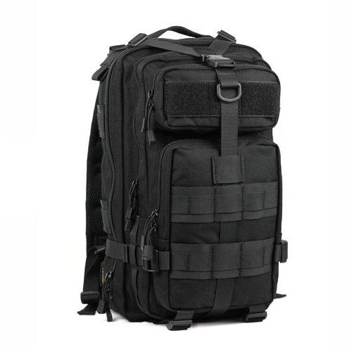 Outdoor schulter Rucksack mann Camouflage wandern Tasche 40 L 42 * 23 * 28 cm, schwarz, 20-35 Liter Schwarz