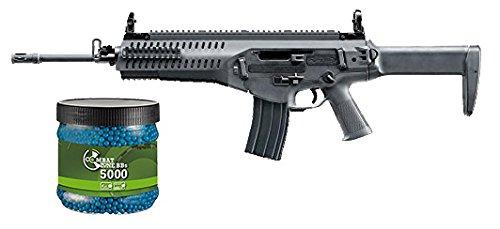 SET: Softair Gewehr Beretta ARX160 Advanced AEG elektrisch unter 0,5 Joule 6mm 7651+ Umarex Combat Zone Softairkugeln blau 6mm 0,12g 5000 BBs