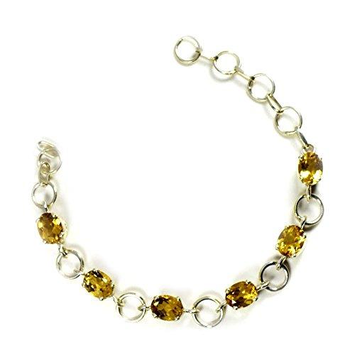 JewelryOnClick Damen - Oval Gold Natürlicher Zitrin (Indien Hochzeit Schmuck)