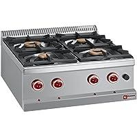 Modular Cocina de gas con 4 quemadores, mesa dispositivo sin – Fregadero invitados Lando