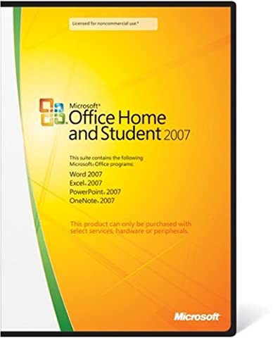 Microsoft Office 2007 Home and Student Edition--for purchase with PC Hardware only, 3 Users (PC) [import anglais]