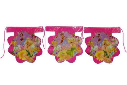 3,3 m Girlande Disney Tinkerbell Fairies Kinder Kindergeburtstag Party Deko Wimpelkette Fairy Fee