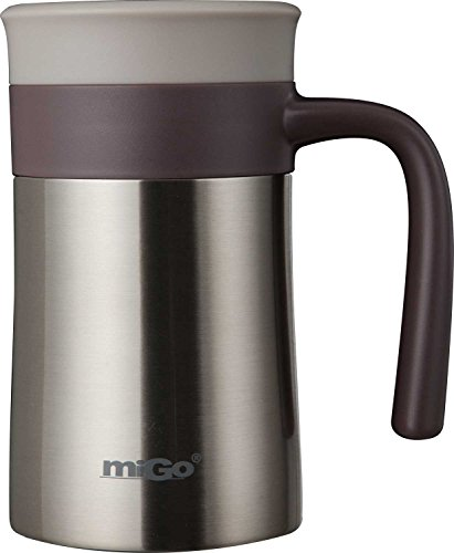 KLXEB Office De Régulation En Acier Inoxydable Tasse Tasse Tasse Tasse Mug Lady Hommes Gris Thé Chaud, 01637-002