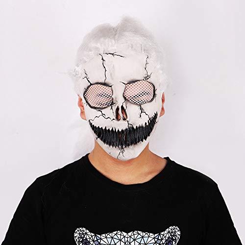 QAZXSW Halloween Latex Maske, Horror Rote Augen Grünes Gesicht Das Böse ZombieVerwitterung Zombie Maske für Halloween Cosplay Partei Kostüm Abendkleid Maske Anonymous MaskH2 (Gute Einfache Guy Kostüm)