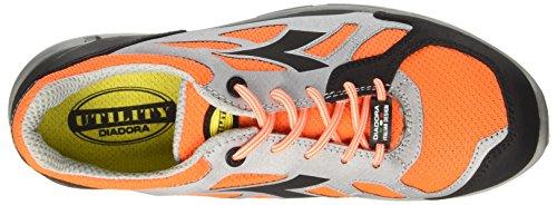 Diadora Herren Zx Flux Sneaker Low Hals Rot (Arancio Fluo/grigio)