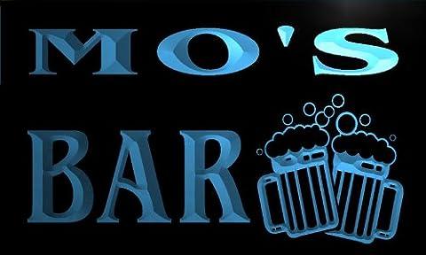 w012118-b MO'S Nom Accueil Bar Pub Beer Mugs Cheers Neon Sign Biere Enseigne Lumineuse