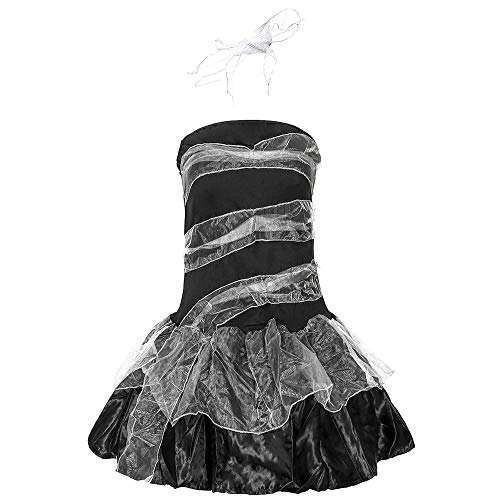Chengzuoqing-CL Halloween Damenkostüme Devil Vampire Zombie Ghost Brautkostüm Cosplay Kostüm Damen Spiel Uniform Halloween Party anziehen (Farbe : Schwarz, Größe : - Zombie Wanderer Kostüm