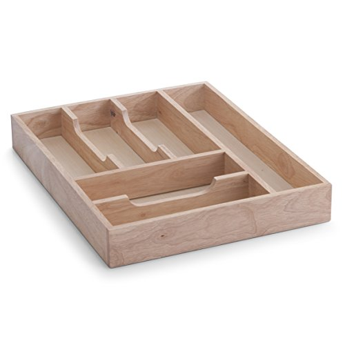Zeller Cutlery Drawer 34x43x6cm, Wood, Multi-Colour, 34 x 43 x 6 cm