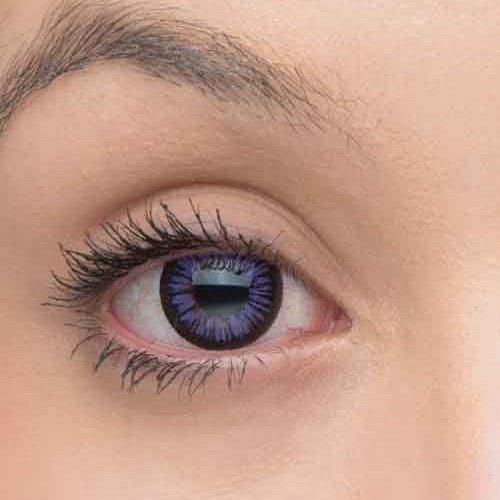 Eye-Effect Farbige lila Kontaktlinsen Jahreslinsen, violett / 0 Dioptrien, 2 Stück