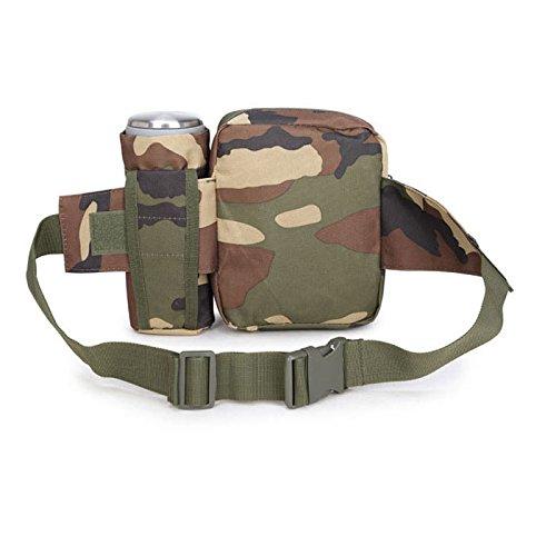 90punti militare Tactical waist bag Pouch Drop Leg gadget strumento borsa multiuso per campeggio escursionismo, FOREST DIGITAL FOREST CAMOUFLAGE
